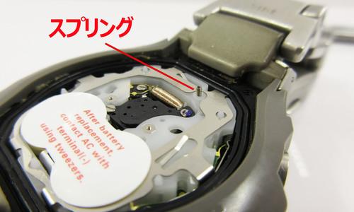 デジタル時計のスプリング