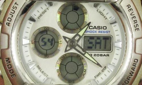 デジタル時計のアップ写真