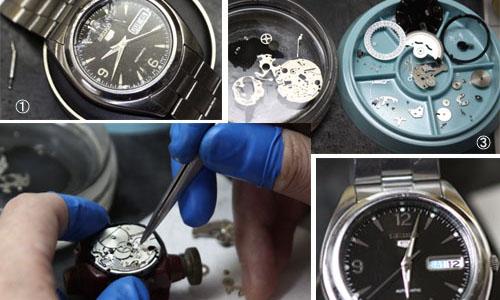 時計修理の風景